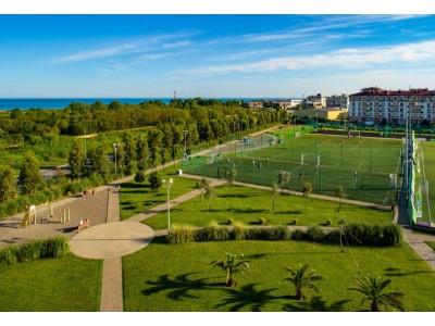 Квартал Русский дом Бархатные сезоны Сочи| спортивные площадки, футбольное поле