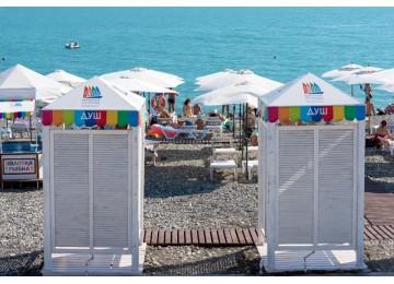 Пляж отеля бархатные сезоны Сочи